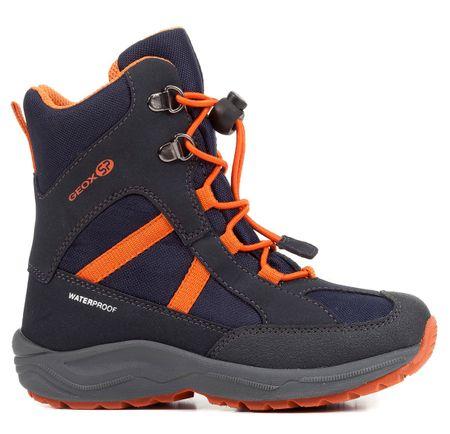 Geox chlapecké zimní boty New Alaska 27 modrá/oranžová