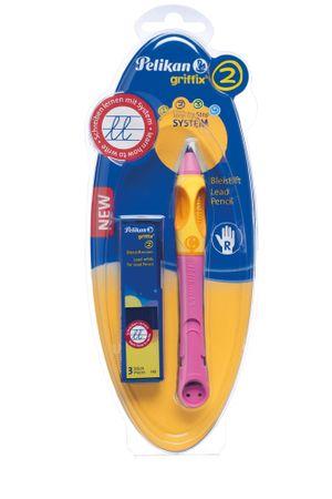 Pelikan svinčnik za desničarje Griffix 2, roza