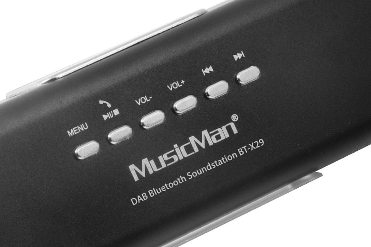 Bezdrátový reproduktor Technaxx MusicMan BT-X29 hodiny budík hands-free