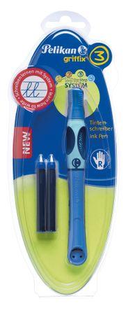 Pelikan Tintás rollertoll jobbkezeseknek Griffix 3 kék