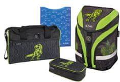 Herlitz Iskolai hátizsák motion dino zöld-felszerelt