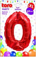 TORO Balónik XL Číslica 0 červená 60 cm