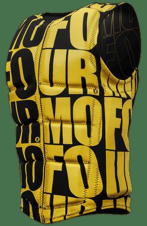 Mofour plavalni jopič Vest, črno/rumen, S
