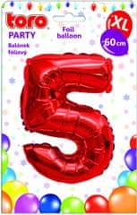 TORO Balónik XL Číslica 5 červená 60 cm