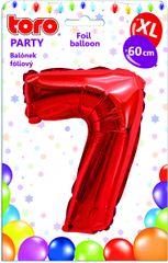 TORO Balónik XL Číslica 7 červená 60 cm