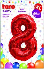 Toro Balónek XL Číslice 8 červená 60 cm