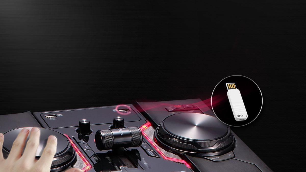 Minisystém LG OM5560 usb záznam přehrávání dj sharing