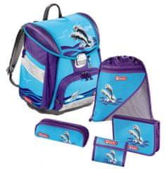 Step by Step zestaw szkolny Delfiny z tornistrem, 5 elementów