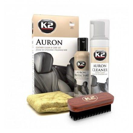 K2 set za čiščenje usnjenih površin Gold Auron Leatehr Kit