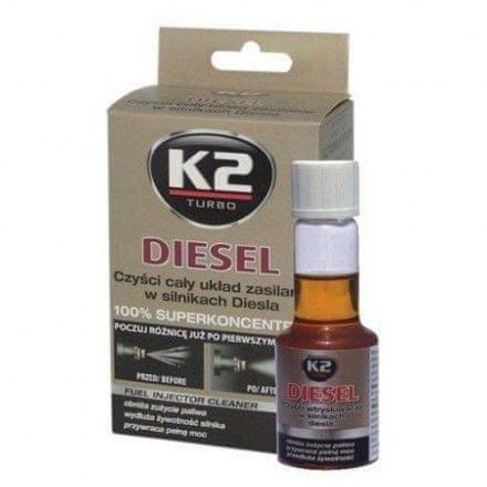 K2 čistilo za šobe dieselskih motorjev Diesel Aditiv, 50ml