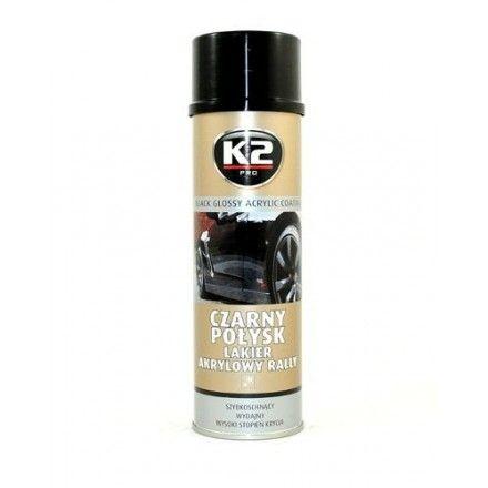 K2 boja za naplatke, sjaj, 500 ml, crna