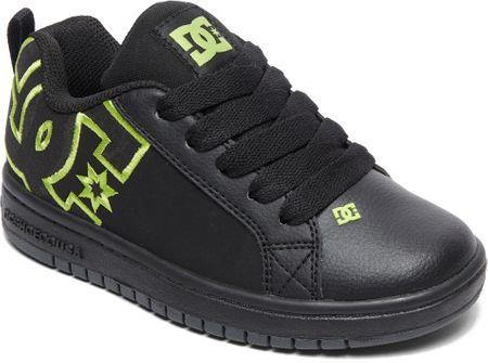 DC Tenisówki chłopięce Ct Graffik Se B Shoe Bk9 Black/Black/Soft Lime 28