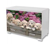Dimex Nálepky na nábytok - Labrador - šteniatka, 85 x 125 cm