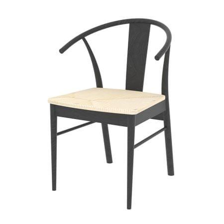 Danish Style Jídelní židle Navy II. (SET 2 ks), černá
