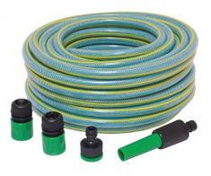 OMEGA AIR vrtna cev za vodo, 12x16 mm, 20 m, s priključki
