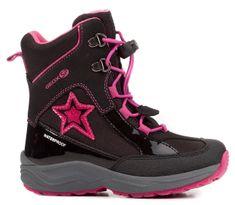 Geox dievčenské zimné topánky New Alaska