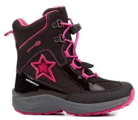 Geox buty zimowe za kostkę dziewczęce New Alaska 26 czarny/różowy
