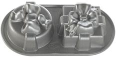 NordicWare Plát s 2 formičkami v tvare darčekov