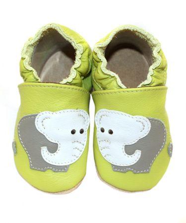baBice chlapecké capáčky se slony 16,5 zelená