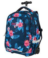 Target ruksak na kotače Floral Blue 21947