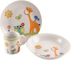 Orion komplet obiadowy dla dzieci Żyrafa, 3 szt.