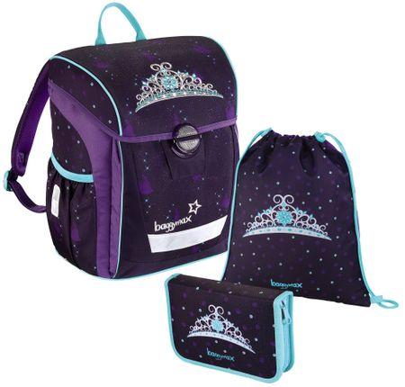 Hama Baggymax Trikky Királyi korona minta- 3-részes iskolatáska szett