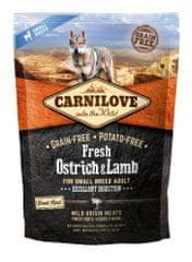 Carnilove sucha karma dla psów Dog Fresh Ostrich & Lamb for small breed 1,5kg
