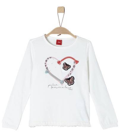 s.Oliver T-shirt dziewczęcy 92 - 98 bialy