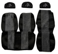 F-CORE Poťahy na sedadlá PS03, sivá