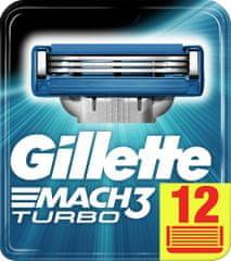 Gillette Mach3 Turbo náhradné hlavice 12 ks
