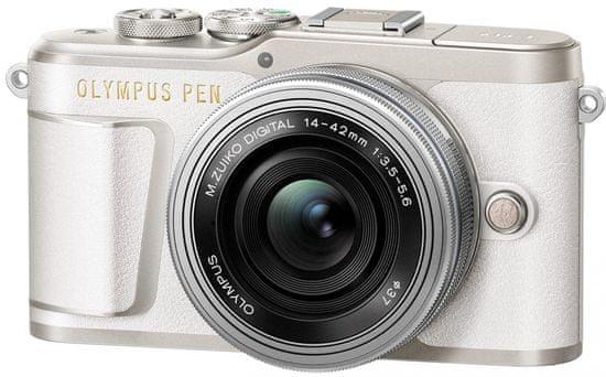 Olympus PEN E-PL9 + 14-42 EZ White Traveler Kit (V205092WE000TK)