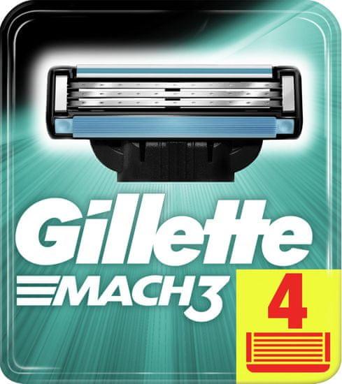 Gillette Mach3 holiace hlavice pre mužov 4Ks
