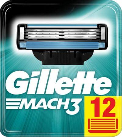 Gillette Mach 3 nadomestna rezila, 12 kosov