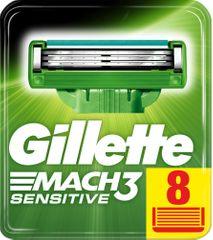 Gillette Mach3 Sensitive náhradné hlavice 8ks