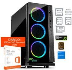 PCplus namizni računalnik Gamer 2 i5-8400/16GB/SSD240GB+1TB/GTX1050Ti/W10H + Office 365 Personal (137063)