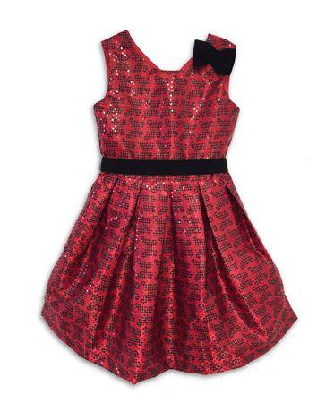 Joe and Ella Dívčí šaty s motýlky Sarah - červené 110