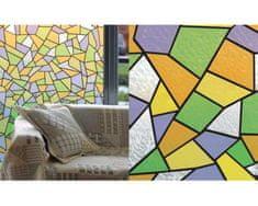 Patifix Fólie na sklo 11-2215 žltozelená mozaika - šírka 45 cm