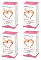 Hampstead Tea London BIO selekcia bylinných a ovocných čajov 20ks x 4