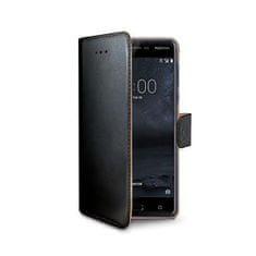 Nokia Pouzdro typu kniha CELLY Wally pro Nokia 5, PU kůže, černé