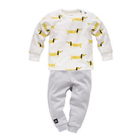 PINOKIO chlapčenské pyžamo Funny Dog 80 biela