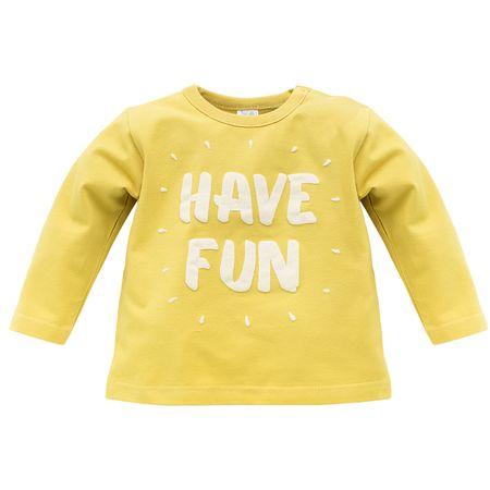 PINOKIO Chlapčenské tričko Funny dog 68 žltá