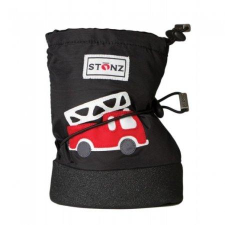 Stonz Chlapecké nepromokavé capáčky/návleky/sněhule s hasičským autem S černé