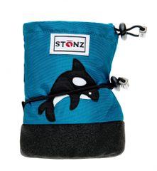 Stonz Chlapecké nepromokavé capáčky/návleky/sněhule se žralokem modré