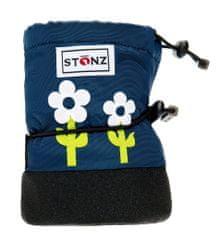 Stonz Dívčí nepromokavé capáčky/návleky/sněhule Flower- modré