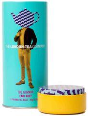 London Tea Company Fairtrade čierny čaj pyramídový Earl Grey v plechovej dóze 15ks