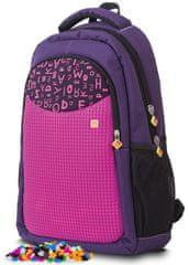 Pixie Crew Študentský batoh purpurová písmená