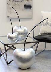 Papillon Dekorace třešeň Celebration, 60 cm, stříbrná