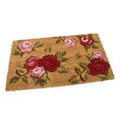 FLOMAT Kokosová vstupní rohož Roses - 60 x 35 x 1,7 cm