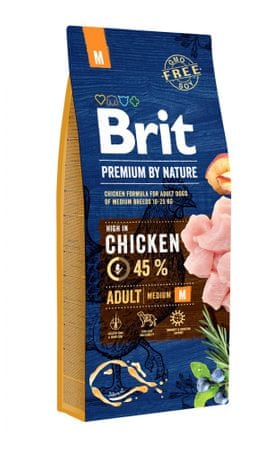 Brit sucha karma dla psów Premium by Nature Adult M 15 kg