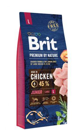 Brit hrana za pasje mladiče Premium by Nature Junior L, 15 kg